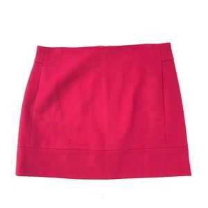 J. Crew Mini Skirt Wool Blend Red Womens 6